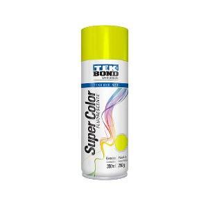 Pintura Spray Por 250 Ml. Fluor Amarillo Tek Bond