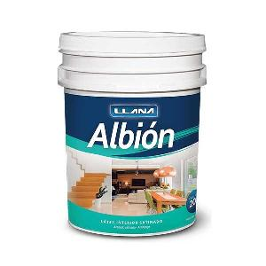 Latex Albion Satinado Blanco 20 Litros Llana