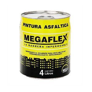 Pintura Asfaltica Megaflex Por 4 Litros Megaflex